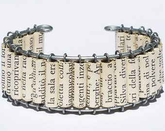 Paper Bead Jewelry- Italian Upcycled Paper Bead Bracelet, Italian Jewelry, Paper Jewelry, Cuff Bracelet by Tanith Rohe
