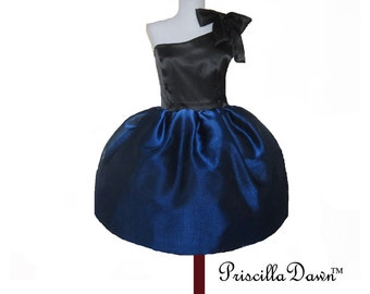 Royal Blue Prom Dress Blue Sheer Overlay Dress Party Dress Custom in Your Size