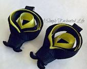 Bumble Bee Ribbon Sculpture Hair Clips (Pair)