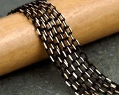 Black Faceted Brass Cable Chain 2.1mm c06(6ft)