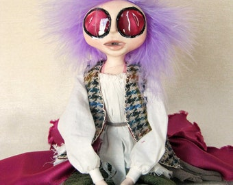 Angharad the Welsh Fairy Pixie Art Doll
