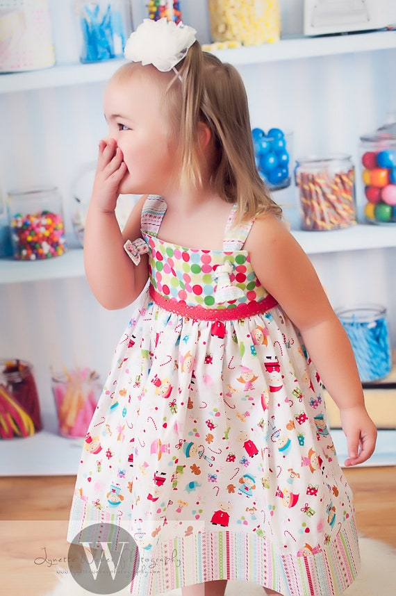 Knot Dress- TOYLAND- Christmas 2012- Available sizes: 12 months - 6 - Handcrafted by VALERIYA