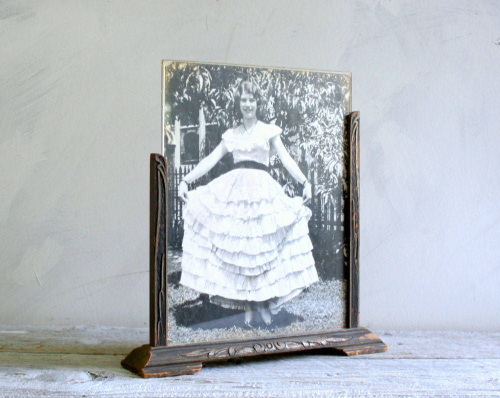 vintage double sided picture frame zoom