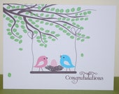 Congratulations New Baby Card, Personalized Baby Card
