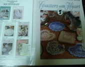 Thread Crocheting Coaster Patterns Coasters with Heart Leisure Arts 2880 Crochet Pattern Leaflet