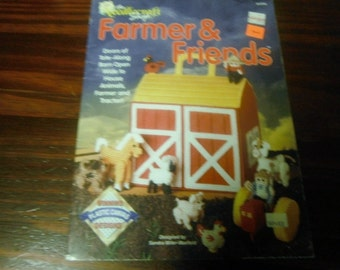 Plastic Canvas Pattern Farmer and Friends Needlecraft Shop 913705 Barn and Animals Plastic Canvas Pattern Leaflet