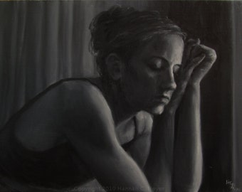Hold Fast, original oil painting on linen