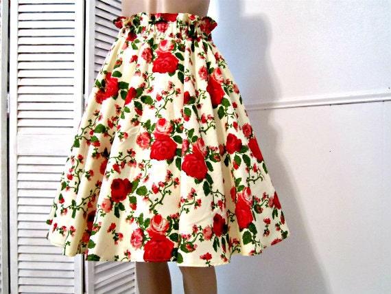 Handmade Circle Skirt  Flared skirt with retro chic. Size  Medium