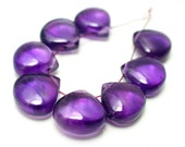 Out Of this World- Super Beautiful Grape Purple Color Amethyst Smooth Polished Briolttes Beads