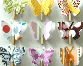 London - Paper Butterfly Memo Clips - made to order