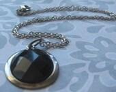 Dark Pool Pendant Necklace