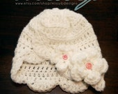 Crochet Newborn Hat Pattern - Scallops Cloche Hat -  birth to 3 month size - PDF pattern - Fun Photography Prop - Instant Download