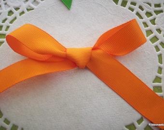 "5/8"" Wide Orange Grosgrain Ribbon 2 yards"