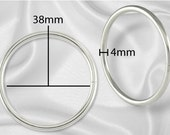 """30pcs - 2"""" Metal O Rings Non Welded Nickel - Free Shipping (O-RING ORG-132)"""