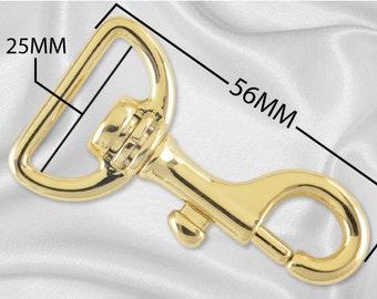 "50pcs - 1"" Metal Large Bolt Snap Hook - Gold - (METAL HOOK MHK-106)"