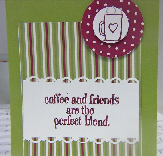 Coffee Lover Card Homemade, Cute Blank Java Card for Personal Note, Teacher Card, Card for Best Friend, Coffee Gift Card Holder, Co Worker
