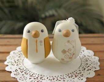 Custom Wedding Cake Topper - Love Bird Cake Topper - Large