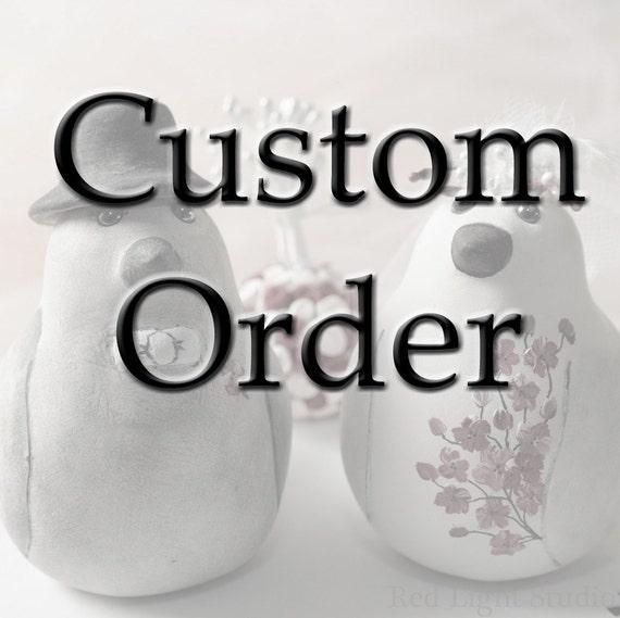 Custom Order Wedding Cake Topper -- For meredithwalkley