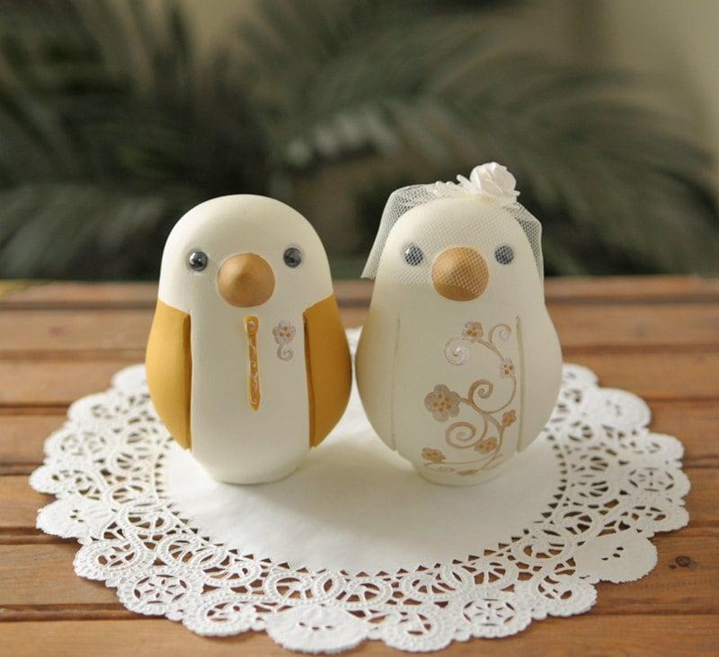 Custom Wedding Cake Topper Love Bird Cake Topper Large
