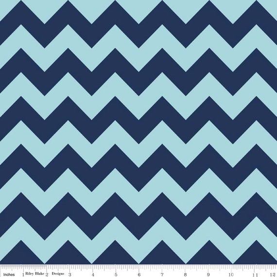 Chevron Tone on Tone navy  C380-23 Medium Zig Zag Stripe by The RBD Designers for Riley Blake Fabrics 1/2 yard