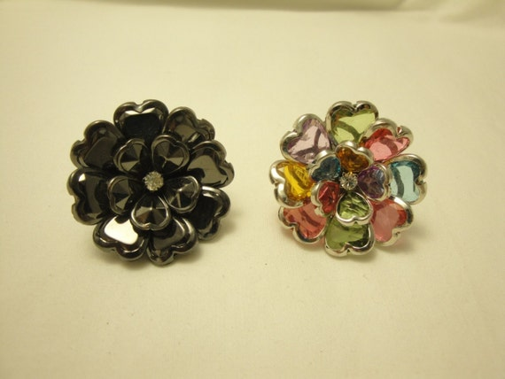 Two streatchy flower rings