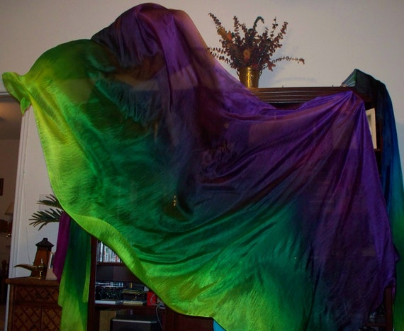 Sahariah's Silk Belly Dance Veil Rectangle 3 Yard Tribal Killer Silk Veil