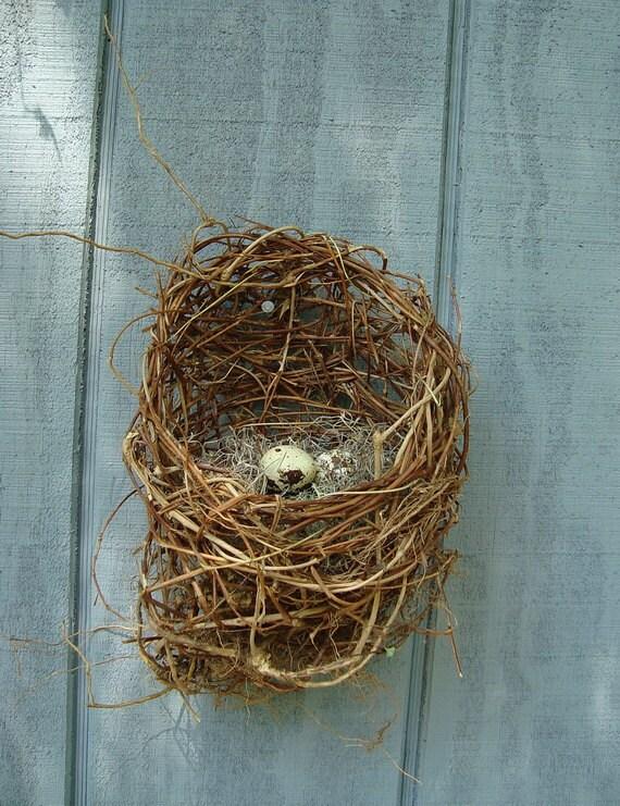 Basket Pod, Faux Birds Nest,  Cornucopia Alternative, Woven Rustic Outdoors, Eco Thanksgiving Table, Baby Shower Decor