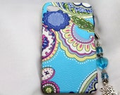 Apple iPhone 4G 4S  Hard Case - Pasiley leather with cell phone charm