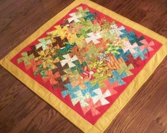 STEAMPUNK PROPRELLERS, 32 inch square handmade quilt