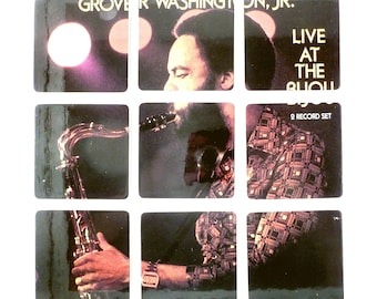 Grover Washington Jr recycled Live at the Biju music album wood coasters and record bowl