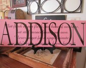 New Design on our Adoption Creed Plaques with added first names in any color you desire 8x24