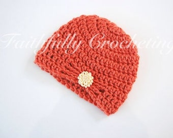 Newborn hat with flower.... Ready to ship...Photography Prop