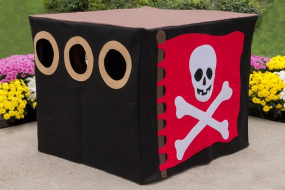 "Ready to Ship Pirate Hideout, Fort, Cubby, Card Table Playhouse, Fits Your 34"" Card Table"