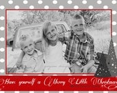 Stars and Polka Dots Christmas Printable Card 5x7- Greyson Design