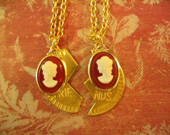 Cameo Sisters Necklaces Jewelry Gift