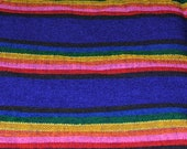 Mexican Woven Fabric Purple RESERVED for Valerie Selmer