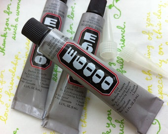 E6000 9ml 0.3fl oz  Adhesive glue Clear finish Crafting and Jewelry making FREE Nozzle