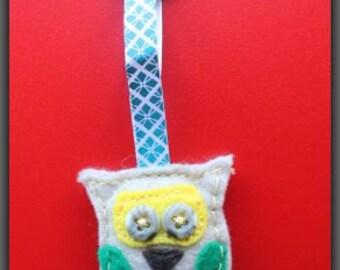 Tan Owl Keychain