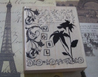 Christmas Montage wood mounted Rubber Stamp from Penny Black