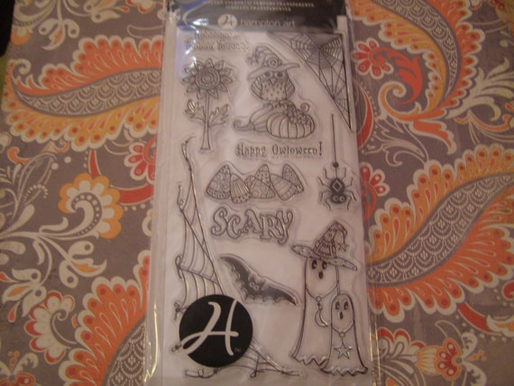 Happy Owloween Clear Unmounted Outlines Stamps from Hampton Art -  11 pieces