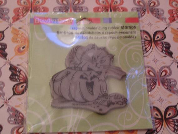 Scruffles Candy Halloween Cling foam-mounted Stamp
