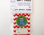 Christmas Owl Gift Tags - 12 per pack