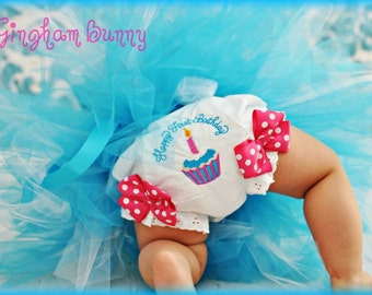 Fancy Pants, Cupcake Ribbon Bloomers, Cupcake Birthday Bash,   You Choose Colors,       By Gingham Bunny