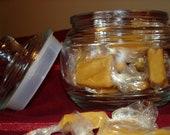 Chai Honey Caramels in a Decorative Jar
