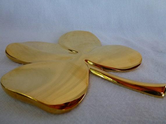 Brass Four Leaf Clover Paper Weight