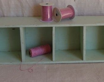 Vintage Shabby Chic Cubby Shelf