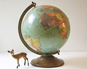 "Vintage Globe - 12"" Replogle - Aqua Green Color"