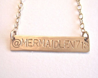 "Twitter Necklace - 'Tweet Me"" in Gold"