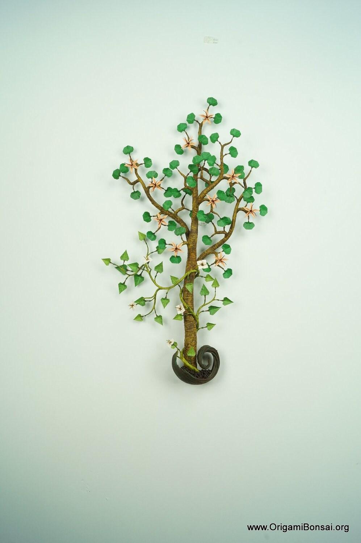 origami bonsai with vine
