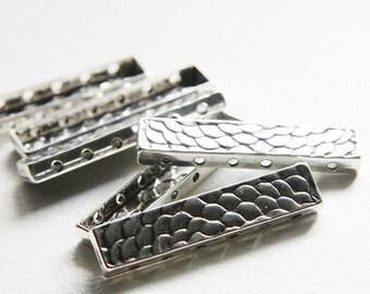 6pcs Oxidized Silver Tone Base Metal Spacers-6 strand Bar - 48x11mm (16327Y-J-94)